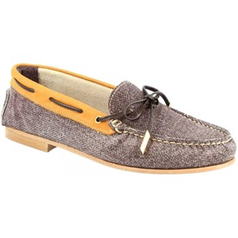 Leonardo Shoes Mokasíny Leonardo Shoes  503 NABUK T. MORO CUOIO