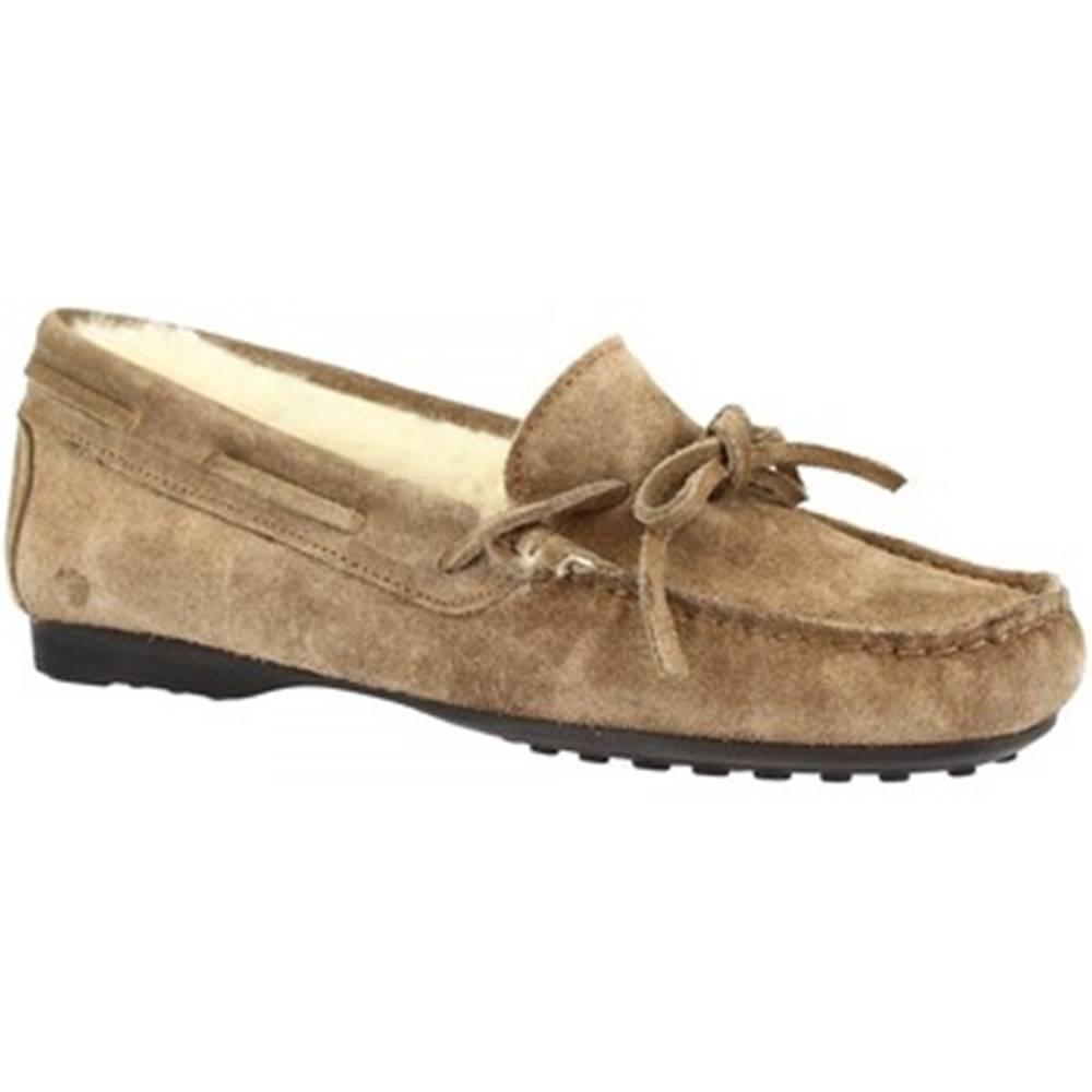 Leonardo Shoes Papuče Leonardo Shoes  158 CAMOSCIO TAUPE DONNA
