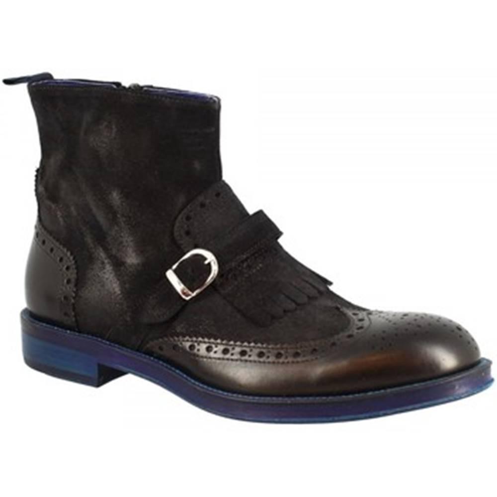 Leonardo Shoes Polokozačky Leonardo Shoes  1012-1 PE CAMOSCIO BLU