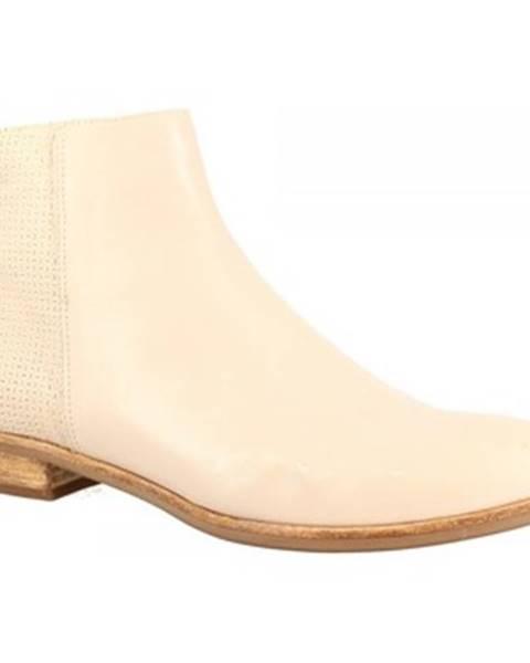 Biele polokozačky Leonardo Shoes