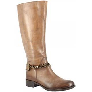 Čižmy do mesta Leonardo Shoes  D082680LI6. TQ01 BRANDY