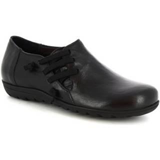 Polokozačky Leonardo Shoes  4524 NERO
