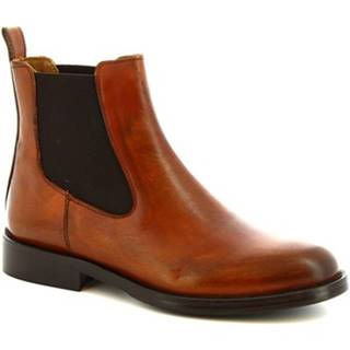 Polokozačky Leonardo Shoes  D607 PE VITELLO CUOIO