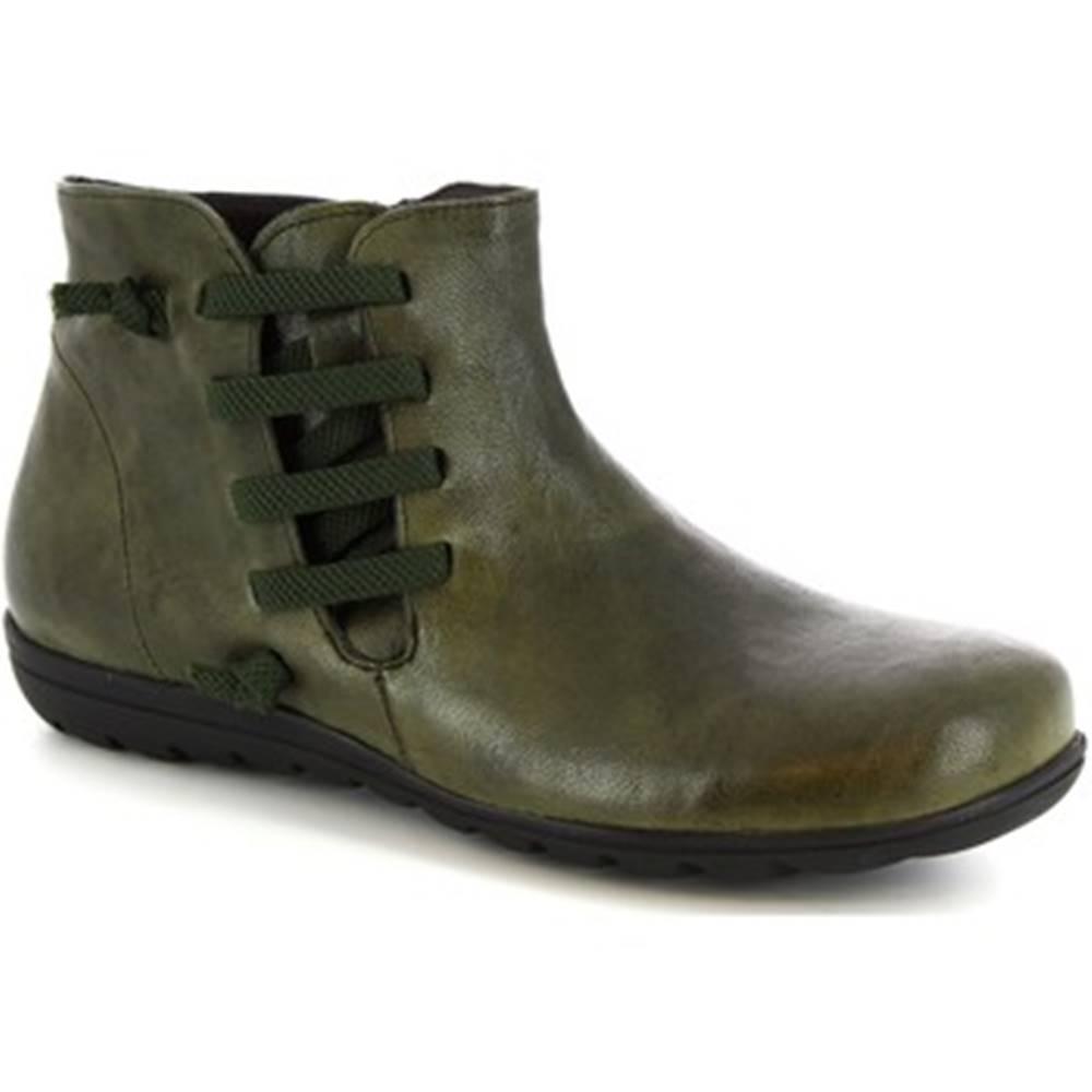 Leonardo Shoes Polokozačky Leonardo Shoes  4527 VERDE