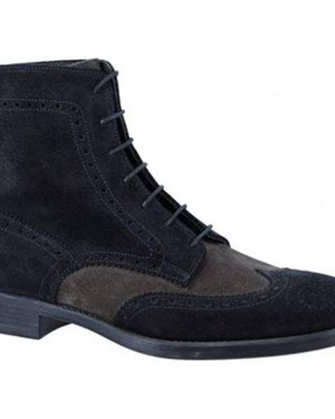 Modré polokozačky Leonardo Shoes