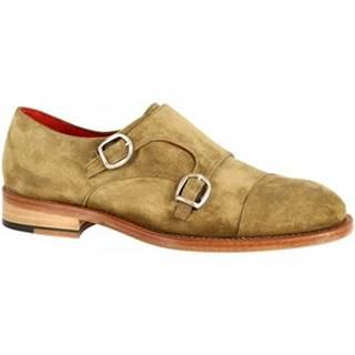Mokasíny Leonardo Shoes  016 V. TAN