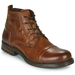 Polokozačky Jack   Jones  JFW RUSSEL LEATHER MID