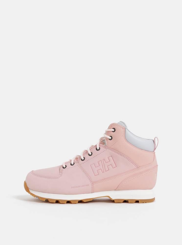 Helly Hansen Rúžové dámske kožené členkové topánky HELLY HANSEN Tsuga