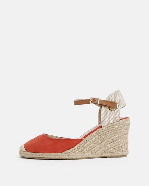 Červené sandále Dorothy Perkins