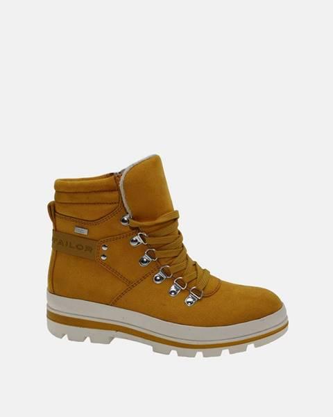 Žlté topánky Tom Tailor