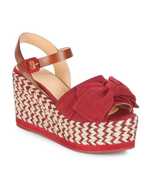 Ružové sandále Castaner