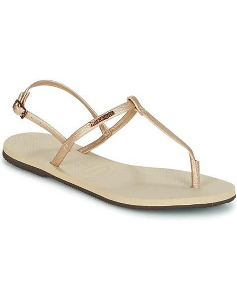 Béžové sandále Havaianas