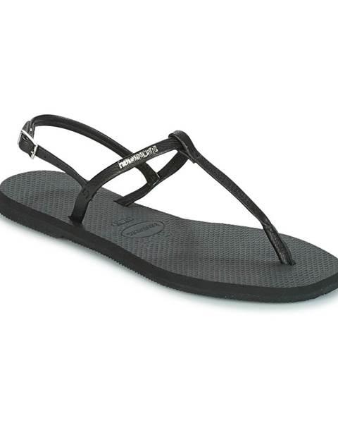 Čierne sandále Havaianas