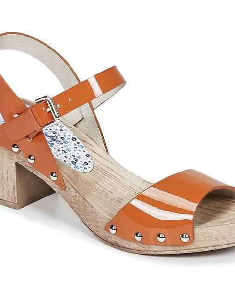 Oranžové sandále Ippon Vintage
