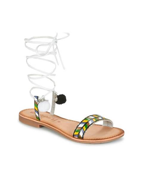 Strieborné sandále Lola Espeleta