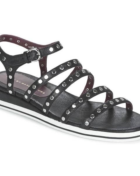 Čierne sandále Marc by Marc Jacobs