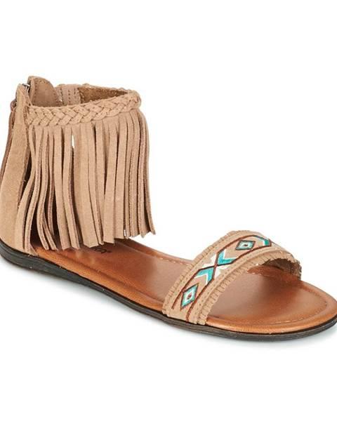 Béžové sandále Minnetonka