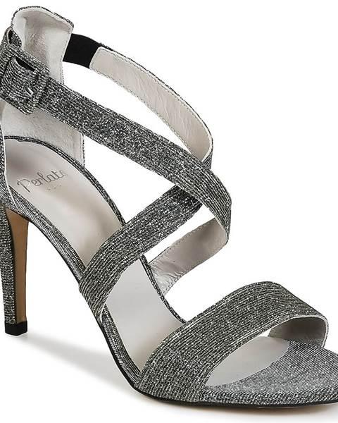 Strieborné sandále Perlato