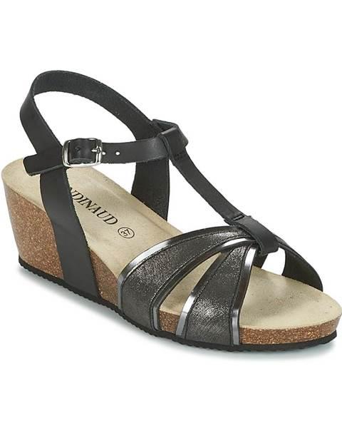 Čierne sandále Rondinaud