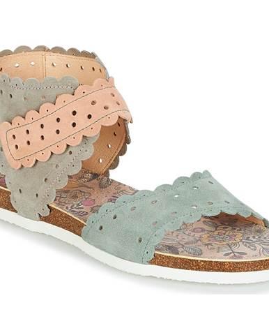 Modré sandále Think