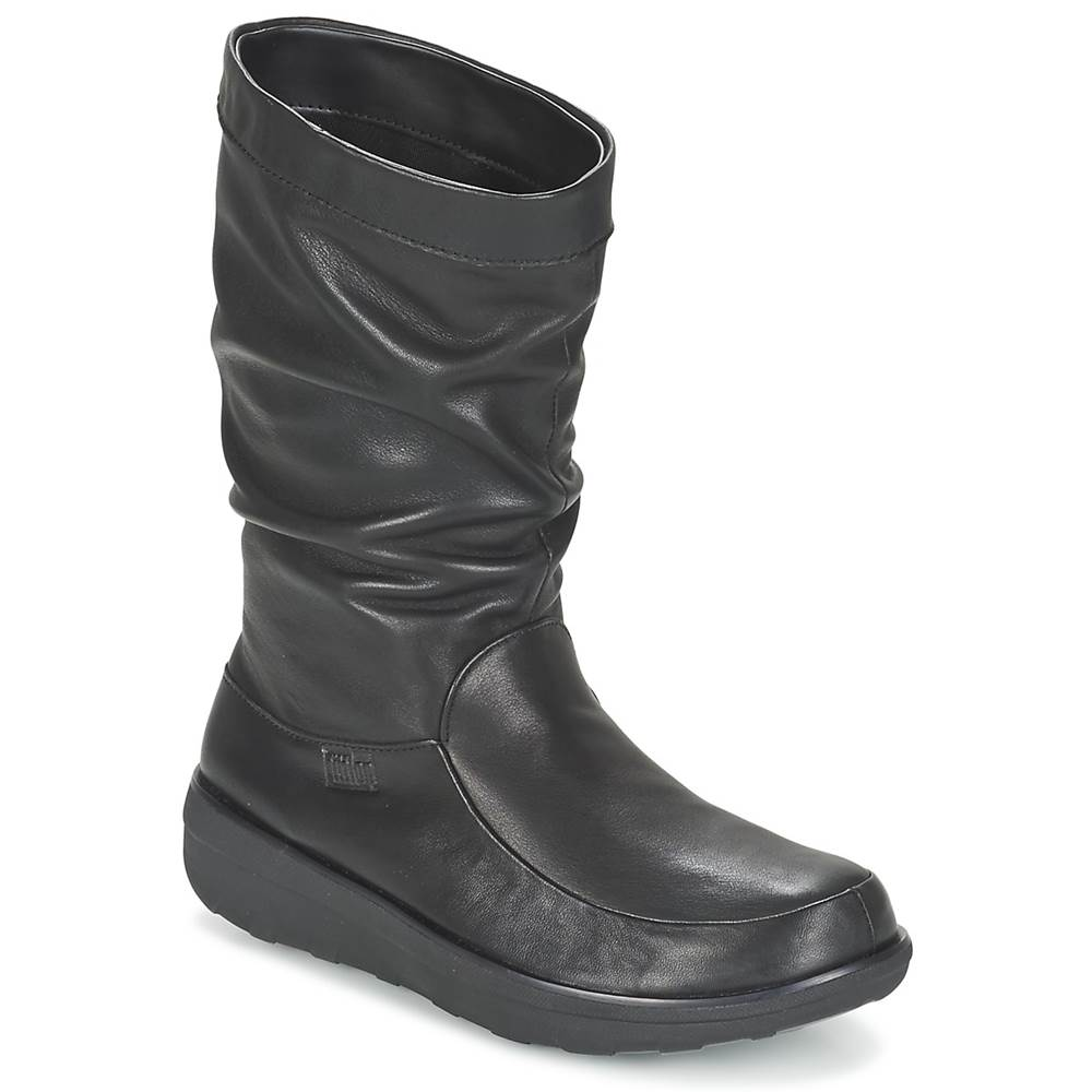 FitFlop Polokozačky FitFlop  LOAF SLOUCHY KNEE BOOT LEATHER