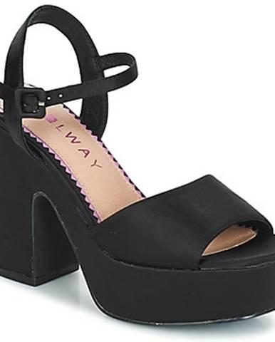 Čierne sandále Coolway