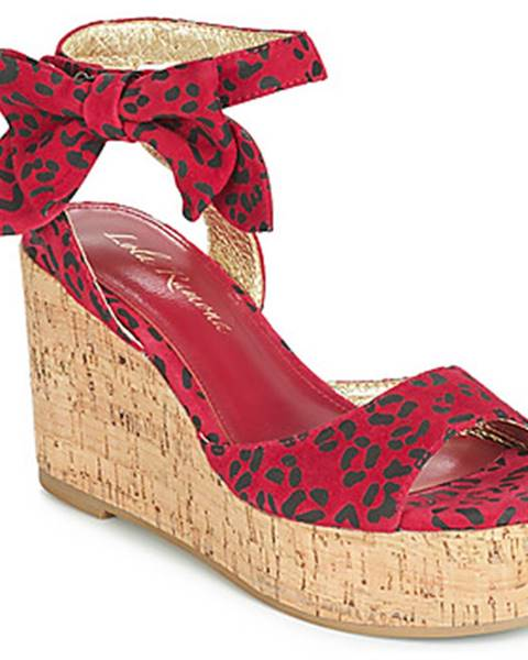 Červené sandále Lola Ramona