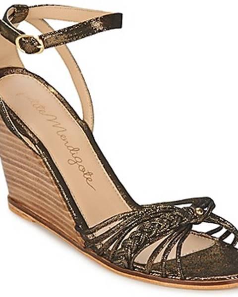 Čierne sandále Petite Mendigote