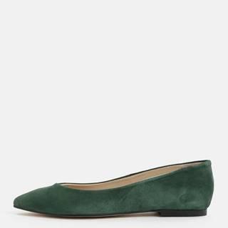 Zelené semišové baleríny OJJU