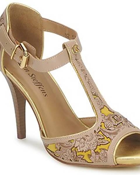 Béžové sandále Carmen Steffens