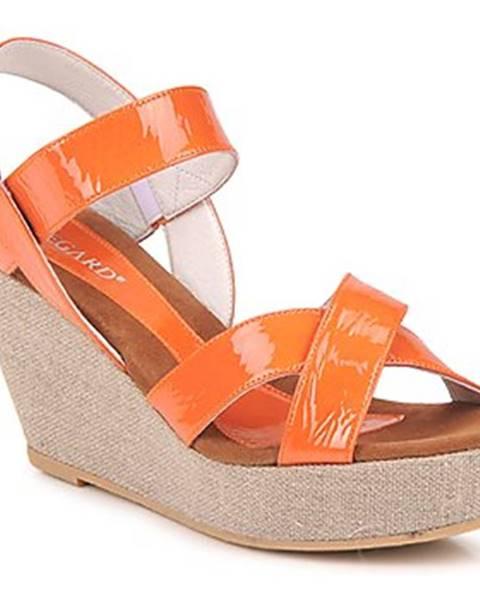 Oranžové sandále Regard