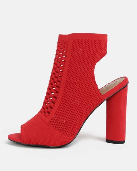 Červené topánky MISSGUIDED