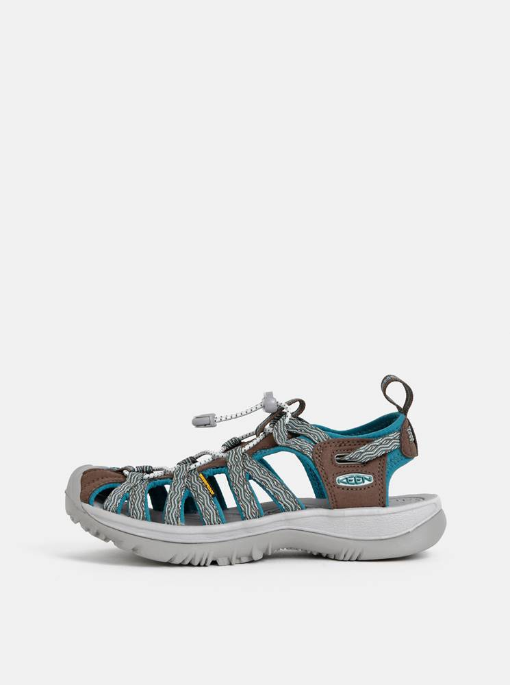 Keen Hnedo-modré dámske sandále Keen Whisper