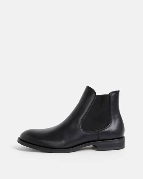 Čierne topánky Selected Homme