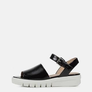 Čierne dámske sandále na platforme  Wimbley