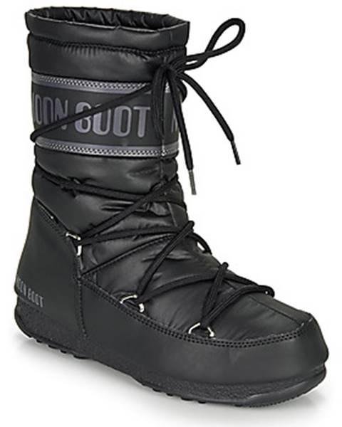 Čierne topánky Moon Boot