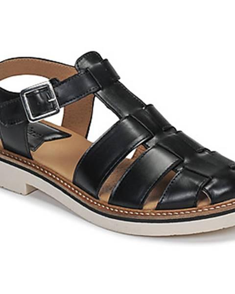 Čierne sandále Kickers