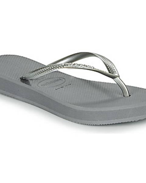 Strieborné topánky Havaianas