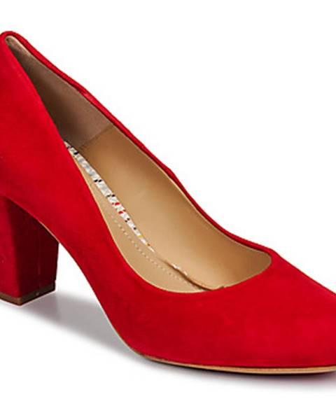 Červené lodičky Perlato