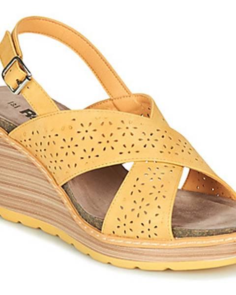 Žlté sandále Refresh