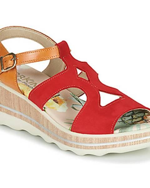 Červené sandále Dorking