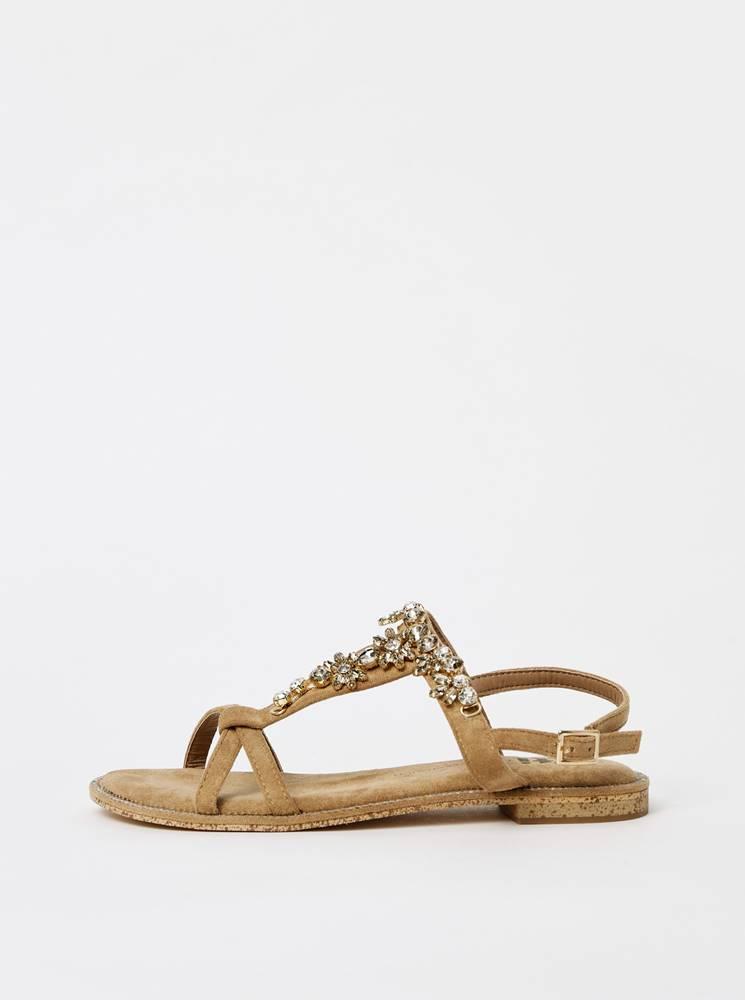 Xti Svetlohnedé dámske sandále v semišovej úprave Xti