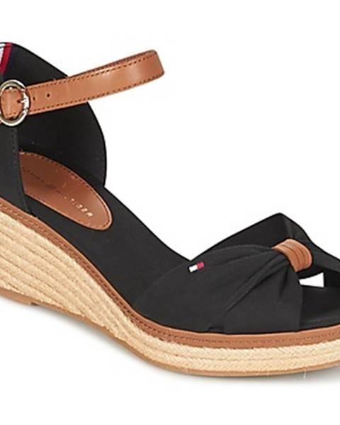 Čierne sandále Tommy Hilfiger