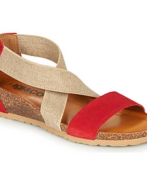 Červené sandále IGI CO