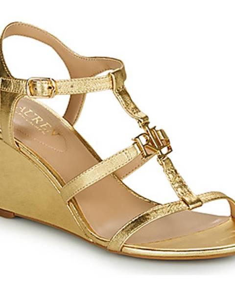 Zlaté sandále Lauren Ralph Lauren
