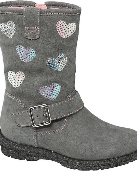 Sivá zimná obuv Cupcake Couture