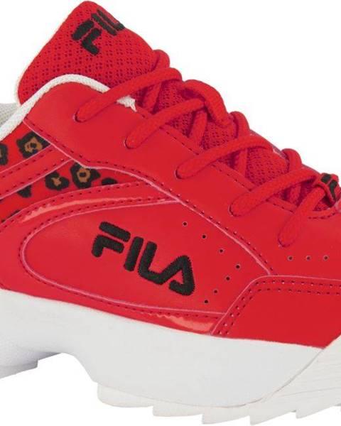 Červené tenisky Fila
