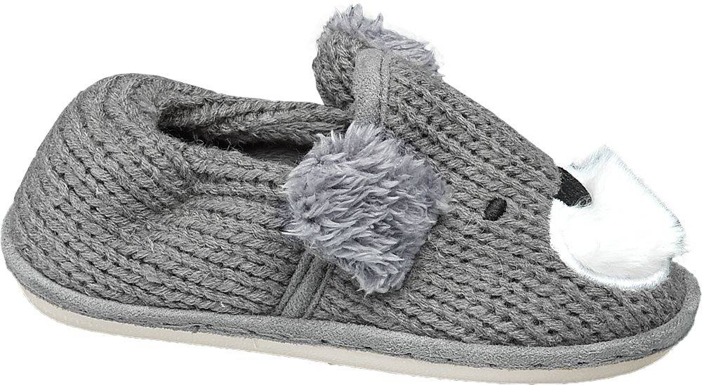 Bobbi-Shoes Bobbi-Shoes - Sivé papuče Bobbi Shoes