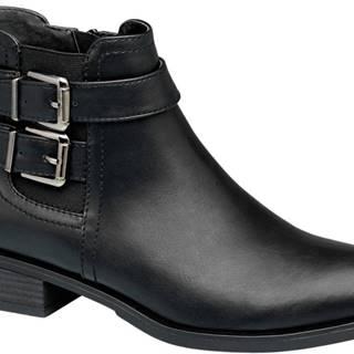 Čierna Chelsea obuv s prackami Graceland