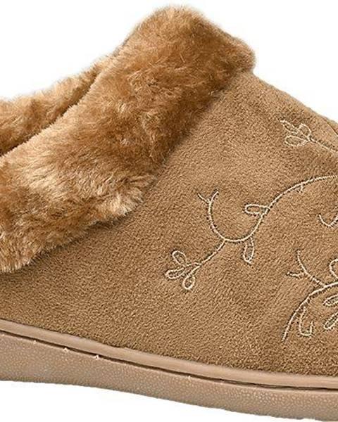 Hnedé papuče Casa mia